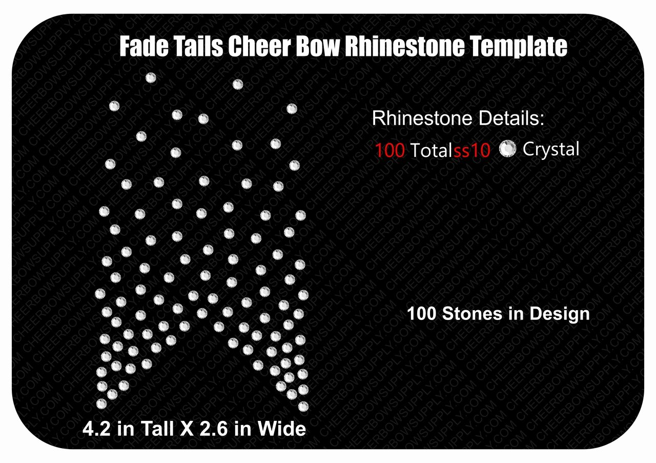 Cheer Bow Template Download Elegant Fade Tails Cheer Bow Rhinestone Template Download