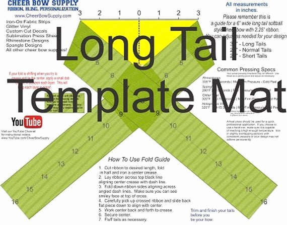 Cheer Bow Template Download Lovely Cheer Bow Supply How to Make A Cheer Bow Long Tail 2 25