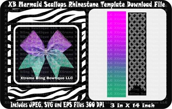Cheer Bow Template Download Luxury Xb Mermaid Scallops Cheer Bow Template Download – Xtreme