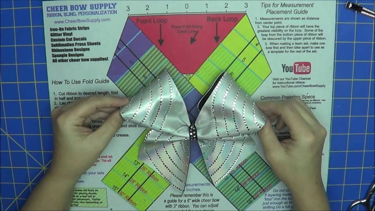 Cheer Bow Template Download Unique How to Make A Cheer Bow with Rhinestones