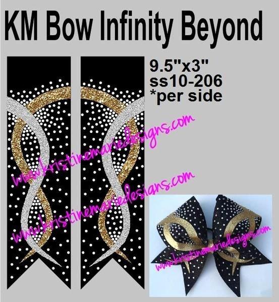 Cheer Bow Template Elegant Km Bow Infinity Beyond Cheer