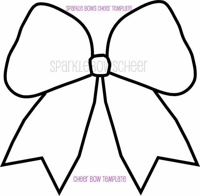 Cheer Bow Template Inspirational Cheer Bow Outline Template Sketch Coloring Page
