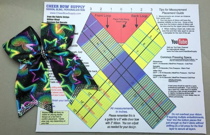 Cheer Bow Template Inspirational Cheer Bow Template Mat & Measurement Ribbon Guide Cheer