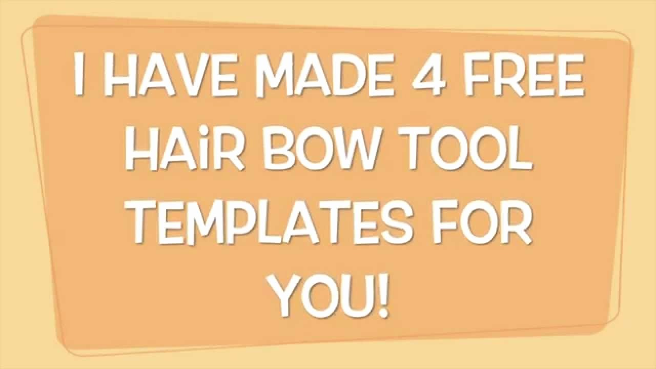 Cheer Bow Template Lovely Free Hair Bow tool Templates