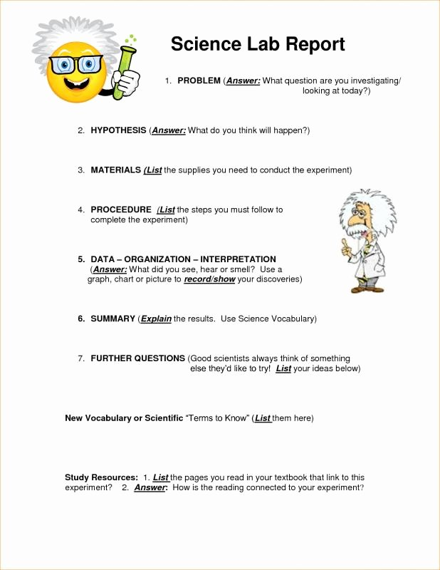 Chemistry Lab Report Template Beautiful Chemistry Lab Report Template