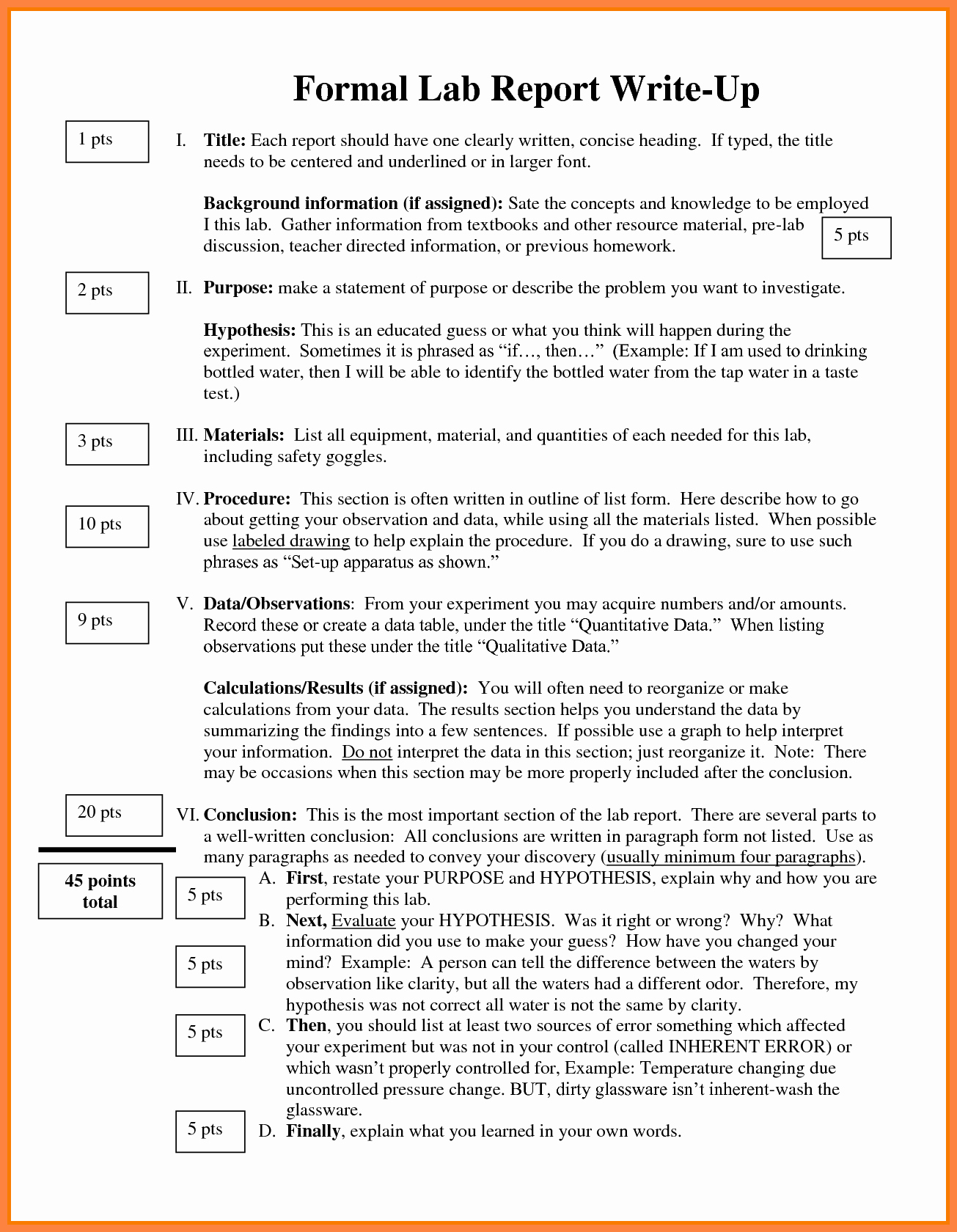 Chemistry Lab Report Template Best Of 8 formal Lab Report Example
