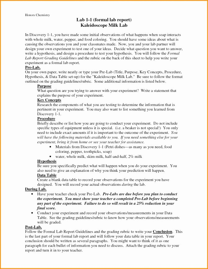 Chemistry Lab Report Template Fresh Lab Report Example Chemistry 17 organic Conclusion Sample