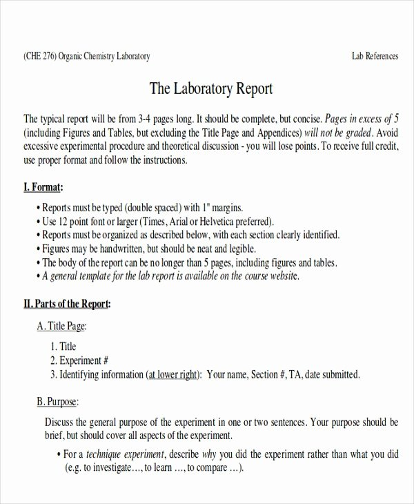 Chemistry Lab Report Template Luxury Tax Audit Report Cover Page