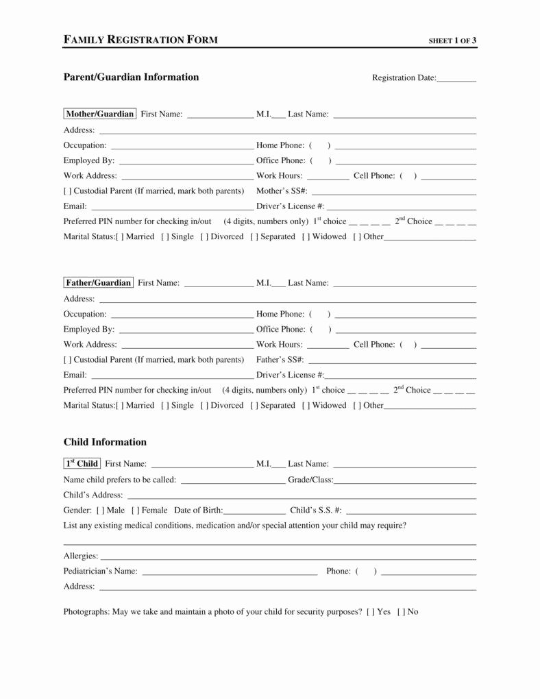 Child Care Application Template Awesome 9 Daycare Application form Templates Free Pdf Doc