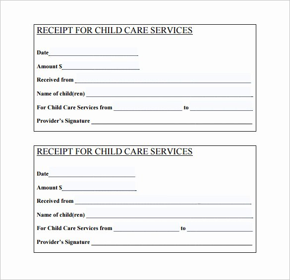 Child Care Application Template Unique 20 Daycare Receipt Templates Doc Pdf