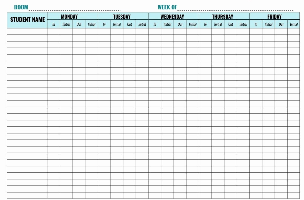 Child Care Sign In Sheets Best Of 9 Free Sample Child Care Sign In Sheet Templates