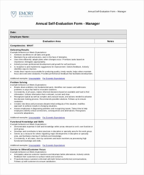 Child Care Staff Evaluation form New Printable Employee Evaluation form