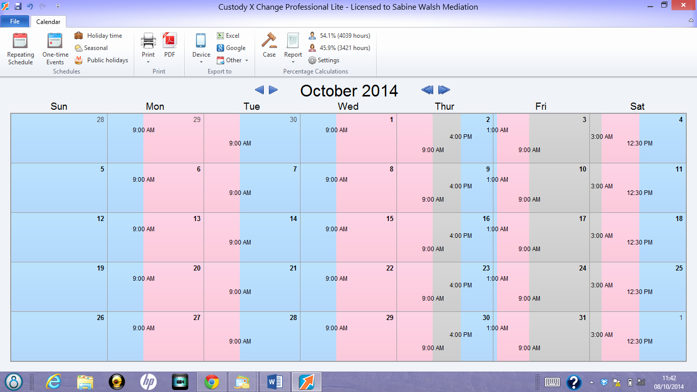 Child Custody Calendar Template Elegant there's An App for that the Use Of Technology In
