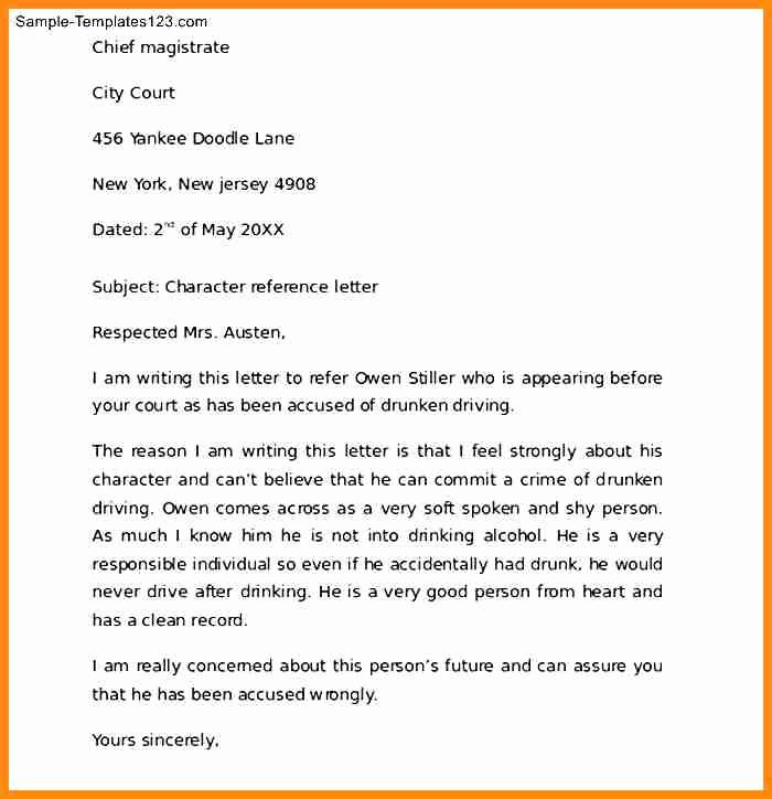Child Custody Letter Template Fresh 15 What is Character Reference Letter