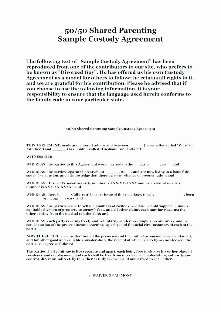 Child Relocation Agreement Template Best Of Shared Custody Agreement Template – Buildbreaklearn