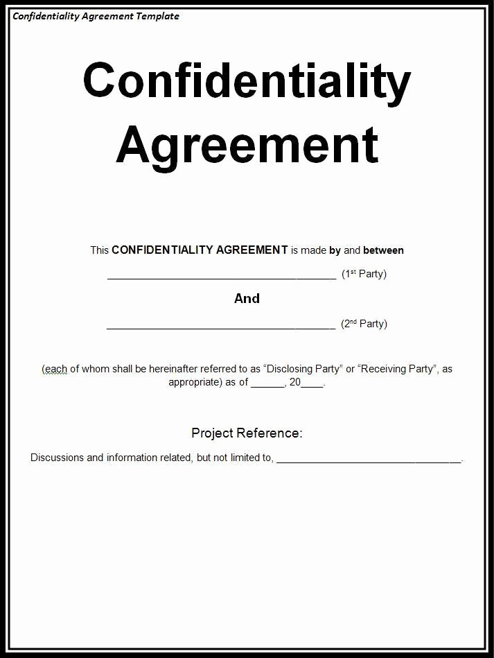 Child Relocation Agreement Template Fresh Confidentiality Agreement Template