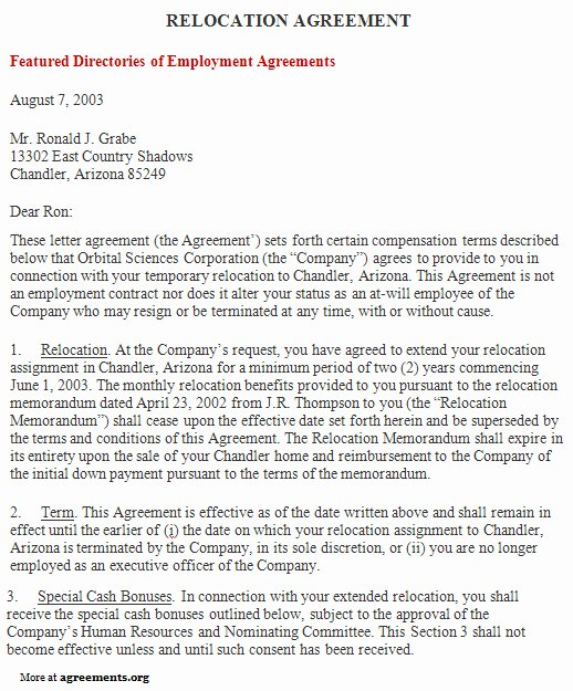 Child Relocation Agreement Template Unique Relocation Agreement Sample Relocation Agreement Template