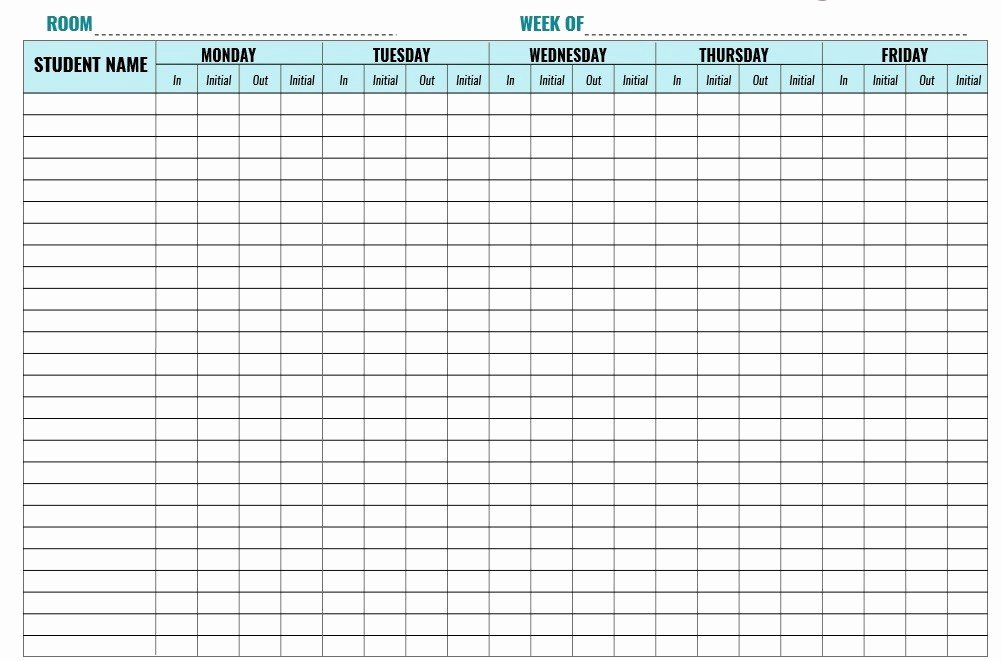 Childcare Sign In and Out Sheet Inspirational 9 Free Sample Child Care Sign In Sheet Templates
