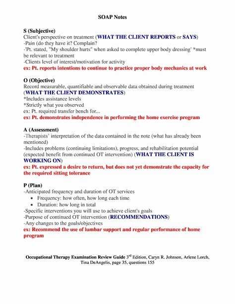 Chiropractic soap Note Example Lovely Best 25 soap Note Ideas On Pinterest