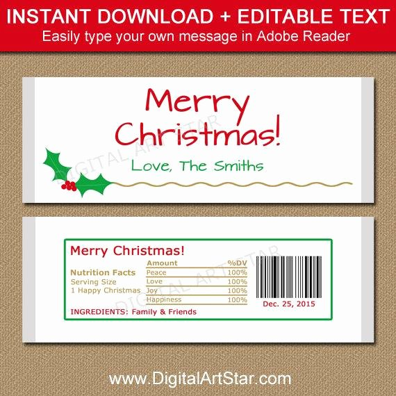 Chocolate Bar Wrapper Template Free Elegant Christmas Candy Bar Wrapper Template Printable Holiday