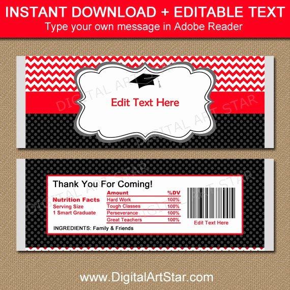 Chocolate Bar Wrapper Template Free Fresh Graduation Candy Wrapper Template Chocolate Bar Wrappers 2018