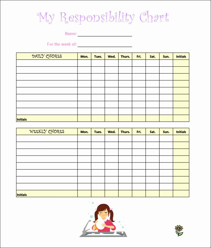 Chore Chart Templates Excel Best Of Flow Chart Chores – Chore Chart Free Printable 46