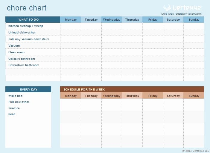 Chore Chart Templates Excel Inspirational 68 Best Images About Free Excel Templates On Pinterest