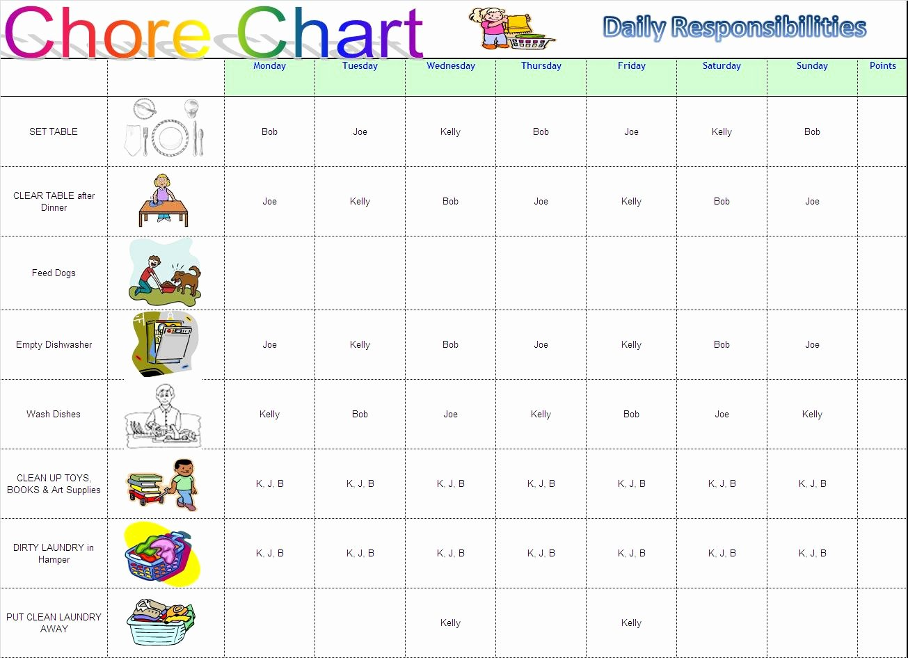 Chore Chart Templates Excel Lovely Working Mom Into Supermom Chore Charts
