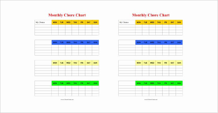 Chore Chart Templates Excel Luxury 22 Chore Chart Template Free Pdf Excel Word formats