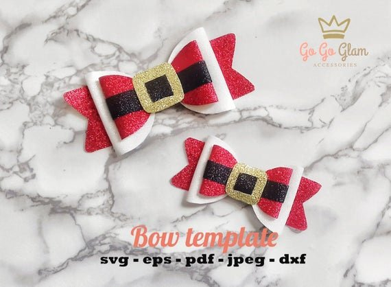 Christmas Bow Template Awesome Christmas Bow Template Santa Claus Svg Bow Pdf
