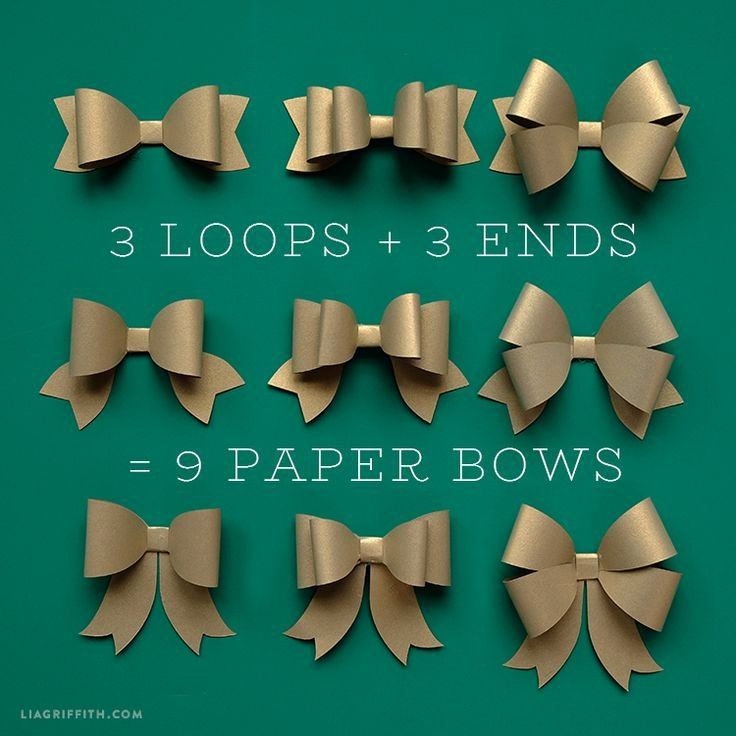Christmas Bow Template Beautiful 25 Best Ideas About Paper Bows On Pinterest
