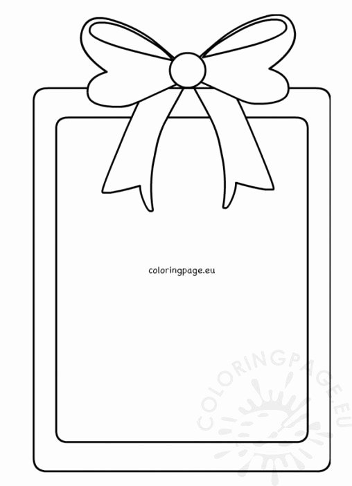 Christmas Bow Template Elegant Christmas Coloring Page