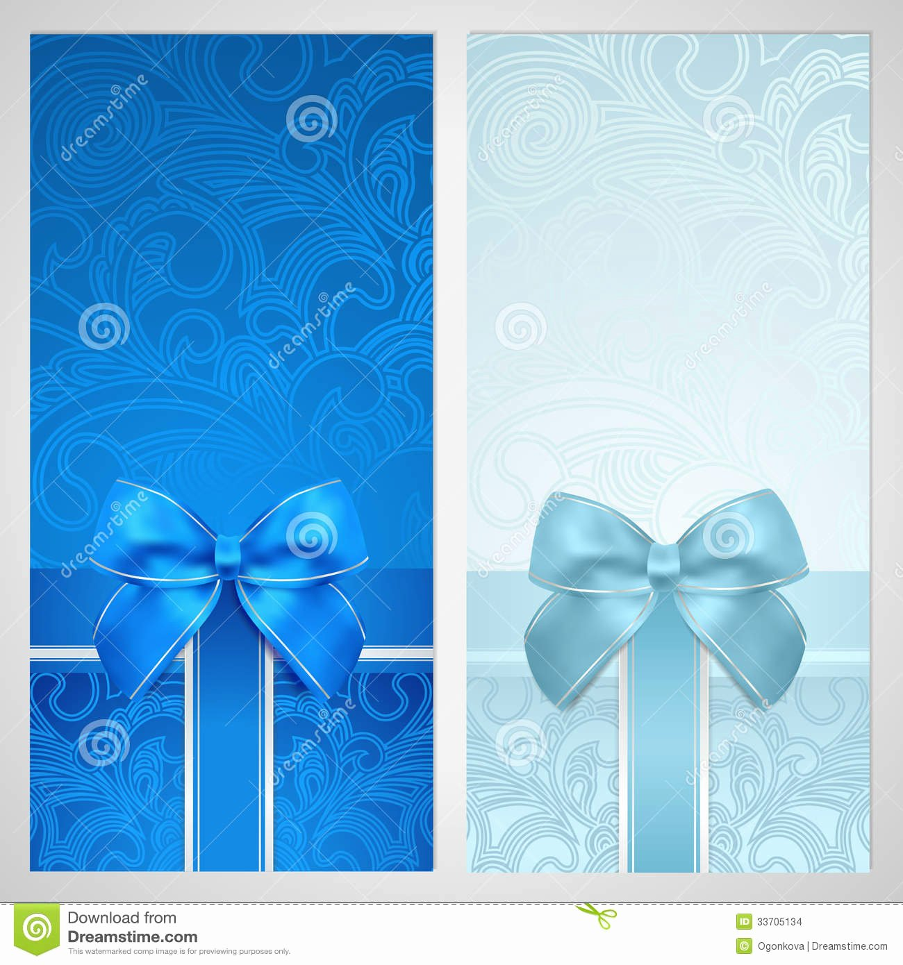 Christmas Bow Template Fresh Voucher Gift Certificate Coupon Boxes Bow Stock