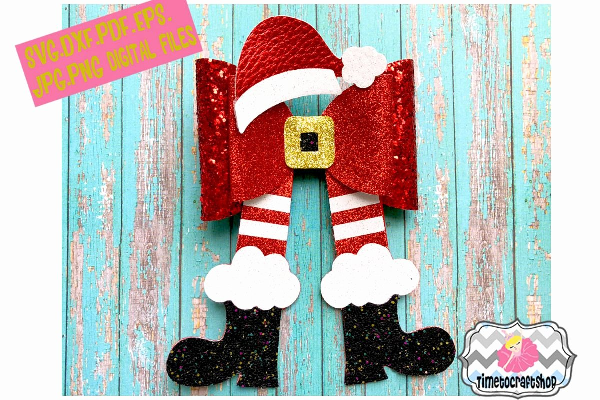 Christmas Bow Template Inspirational Christmas Santa Legs Hat and Shoes Hair Bow Template