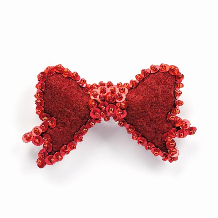 Christmas Bow Template Luxury Red Christmas Bow Pattern Red Beaded Ribbon Tutorial How