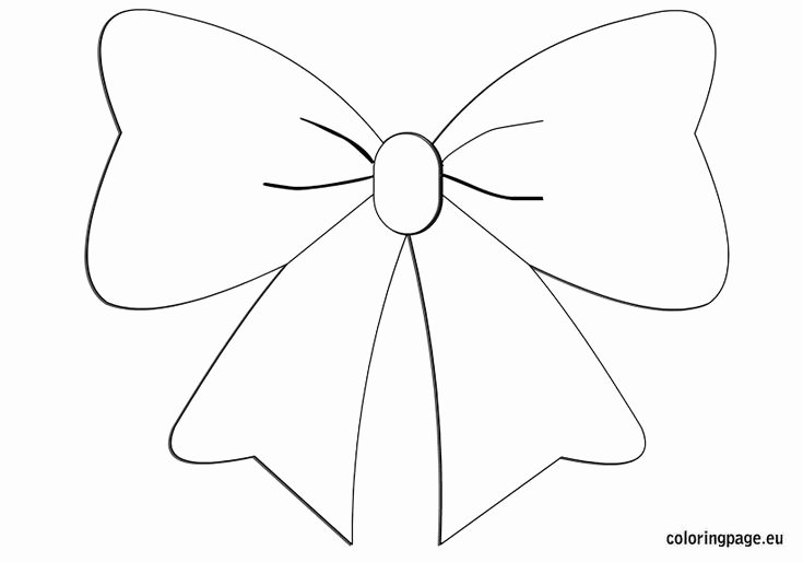 Christmas Bow Template Unique 25 Best Christmas Tree Coloring Page Ideas On Pinterest