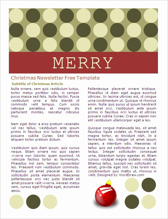 Christmas Letter Template Free Best Of 27 Microsoft Newsletter Templates Doc Pdf Psd Ai