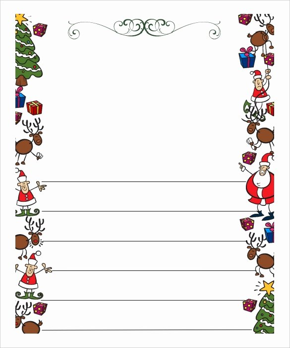 Christmas Letter Template Free Best Of Blank Letter From Santa Template Free Invitation Template