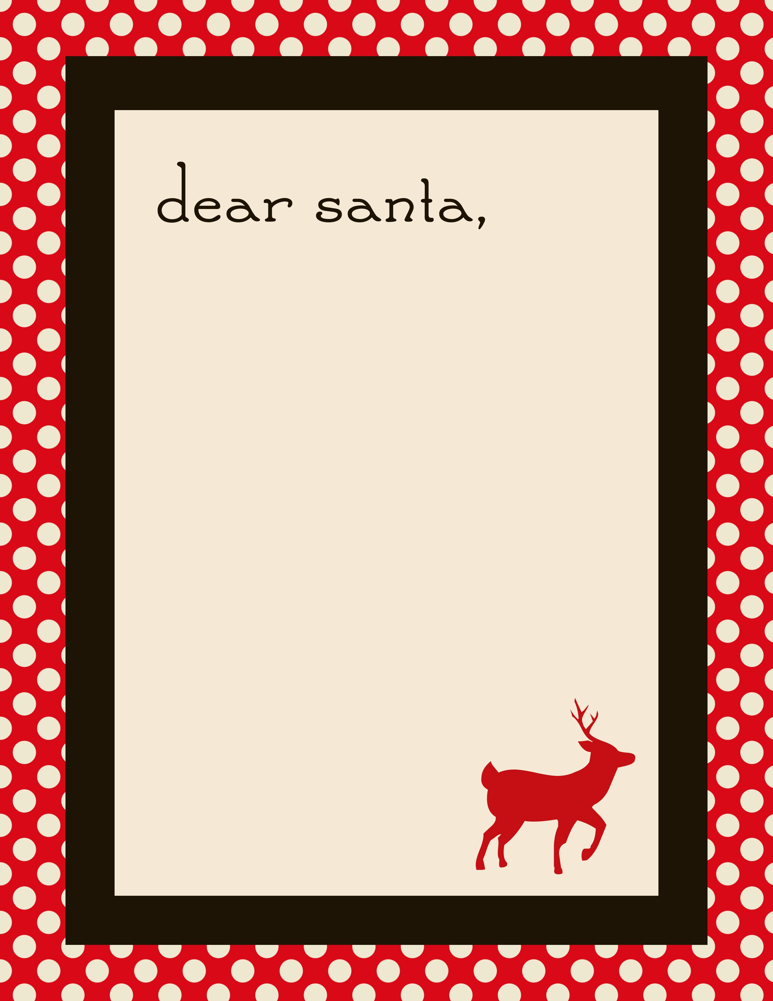 Christmas Letter Template Free Inspirational Free Santa Letter Templates