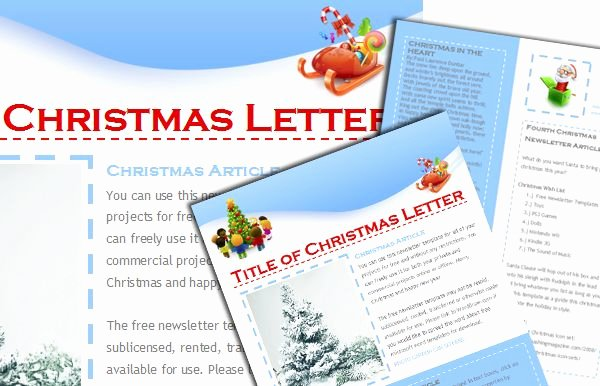 Christmas Letter Template Free Lovely Free Christmas Newsletter Templates Include when Sending