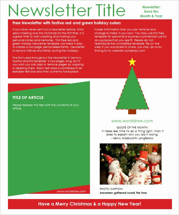 Christmas Letter Template Free New 27 Christmas Newsletter Templates Free Psd Eps Ai