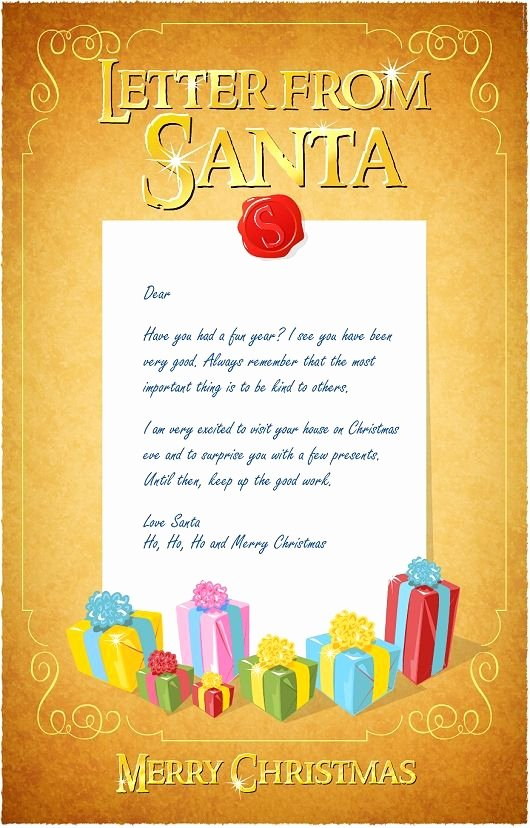 Christmas Letter Template Free Unique Best 25 Letter From Santa Template Ideas On Pinterest
