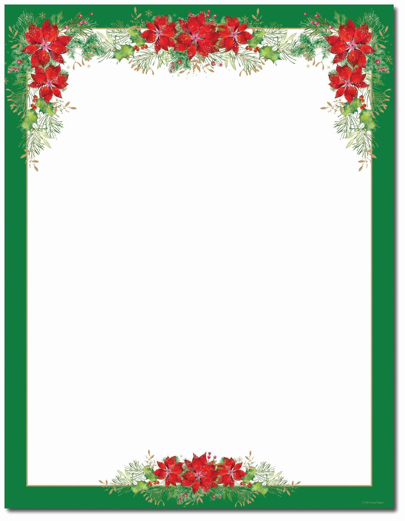 Christmas Letter Template Free Unique Christmas Stationery Printer Paper
