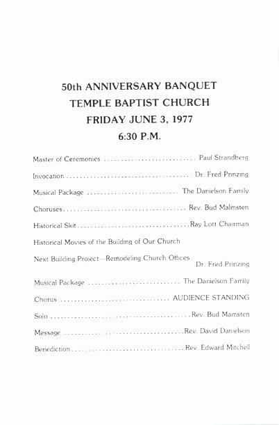 Church Banquet Program Beautiful Church Anniversary Banquet Program Ideas