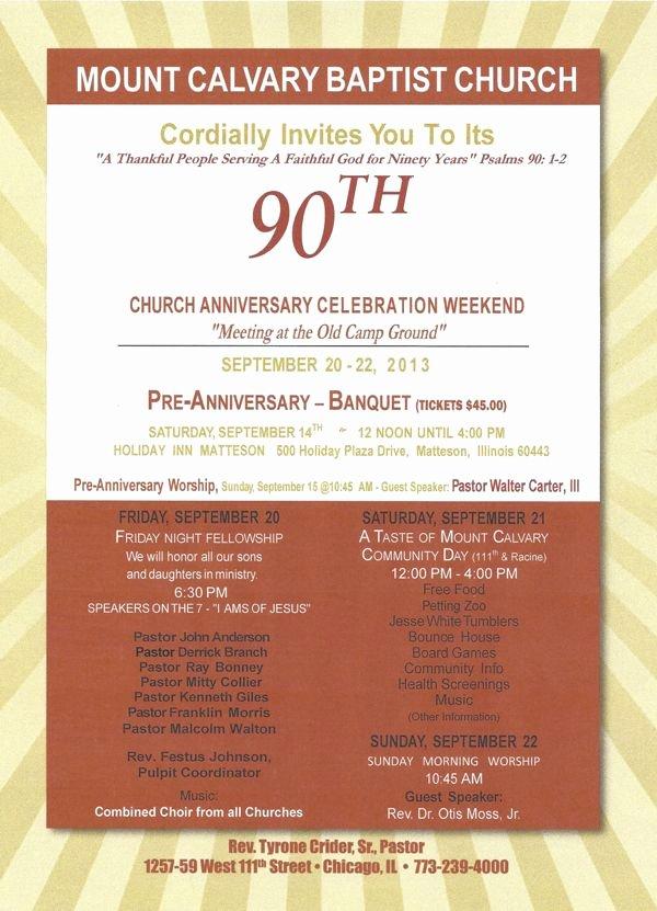 Church Banquet Program Lovely Mount Calvary Baptist Church Rev Tyrone Crider Sr
