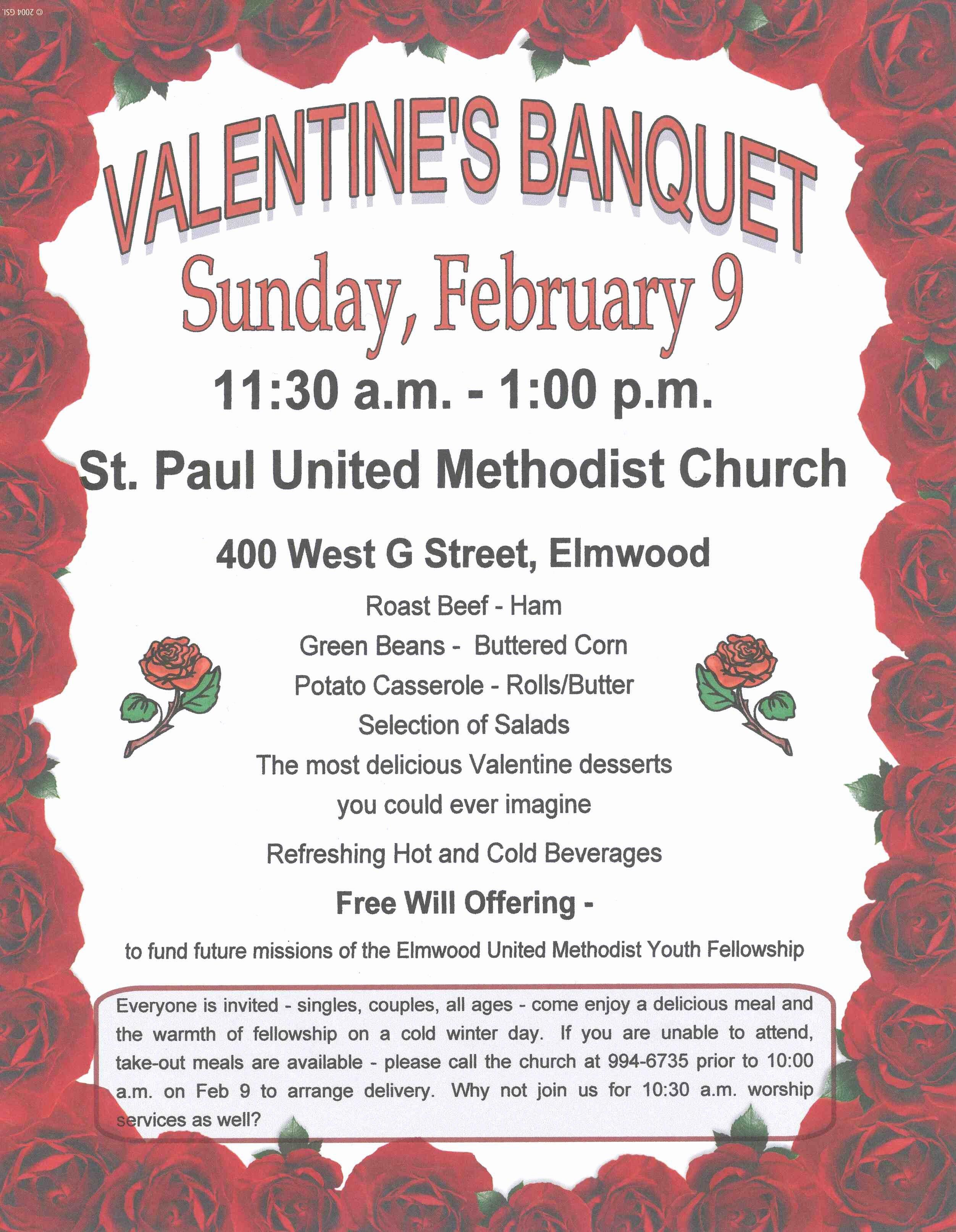 Church Banquet Program Luxury Eagle Newsletter February 5 2014