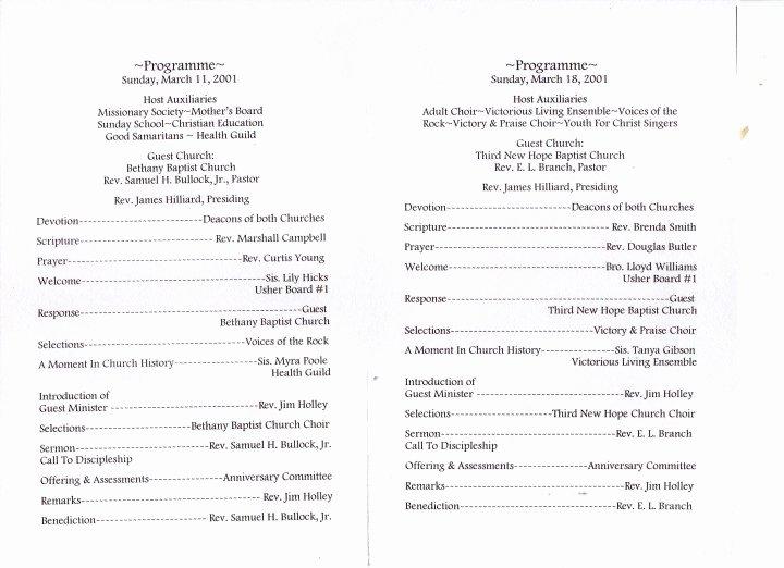 Church Banquet Program New Church Program Template