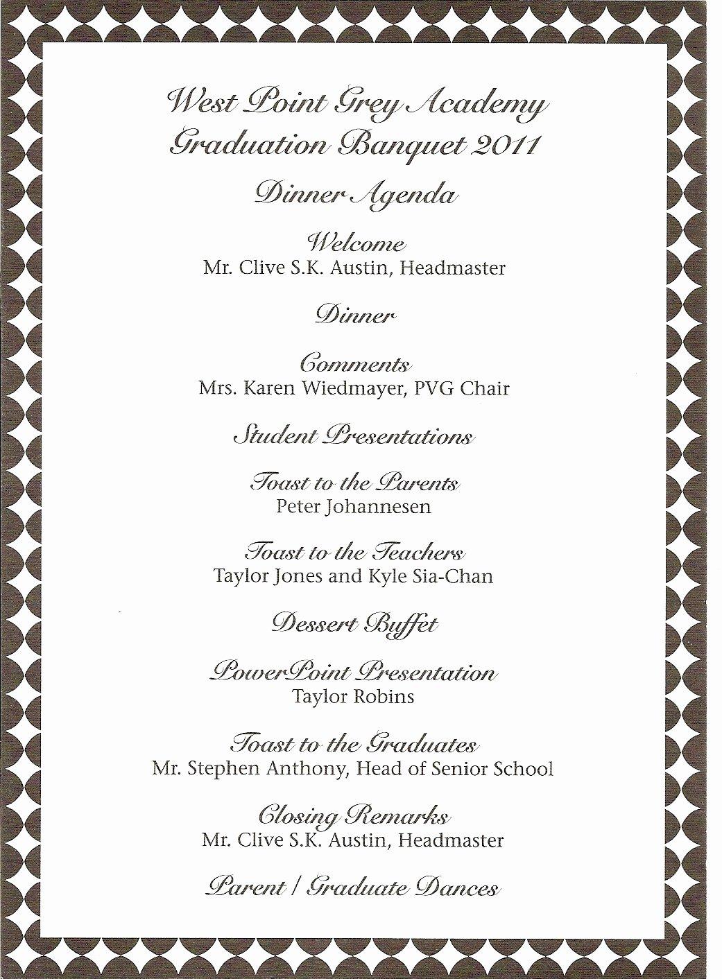 Church Banquet Program New Donna S Report Wpga Graduation Banquet Teddy