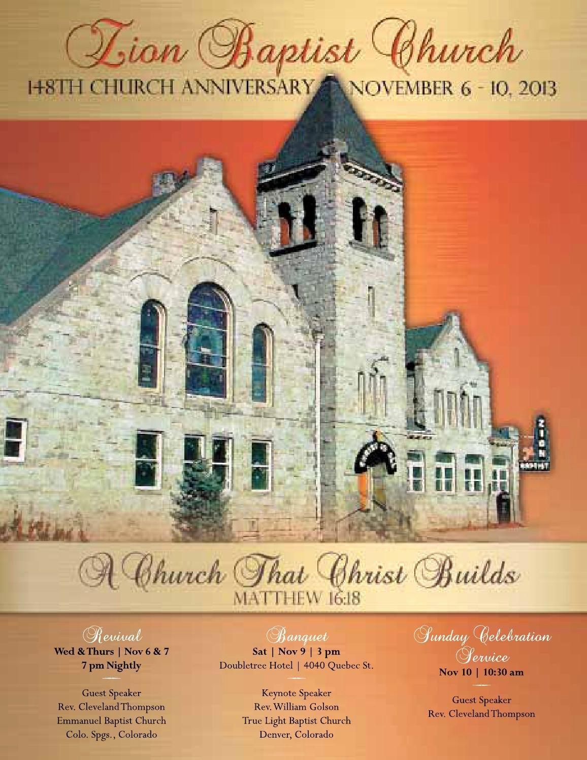 Church Banquet Program New Zion Baptist Church 148th Anniversary souvenir Book by