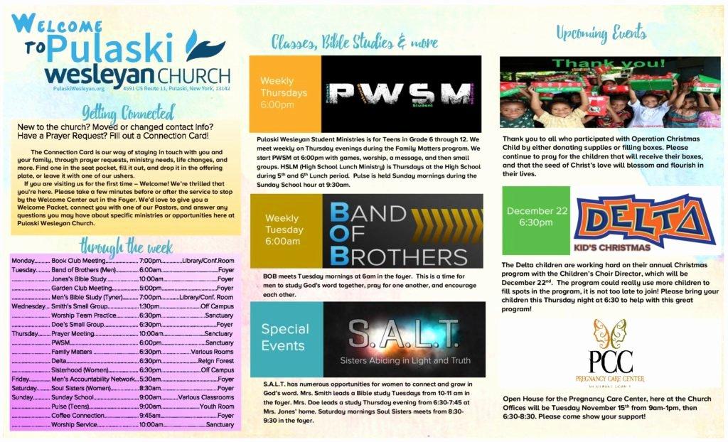 Church Bulletin Ideas Free Beautiful Church Bulletin Ideas – Examples Of Church Bulletins and